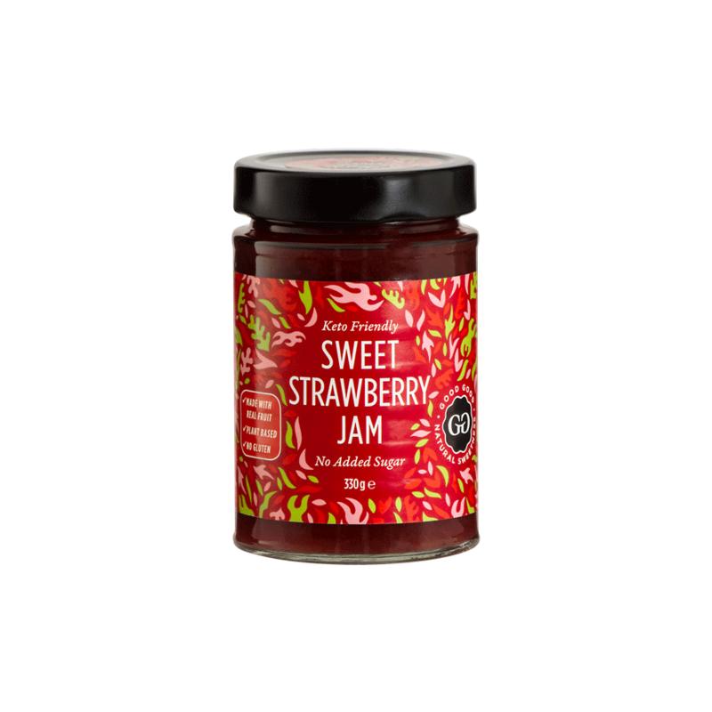 goodgood strawberry jam 330 g deliceslowcarb 1