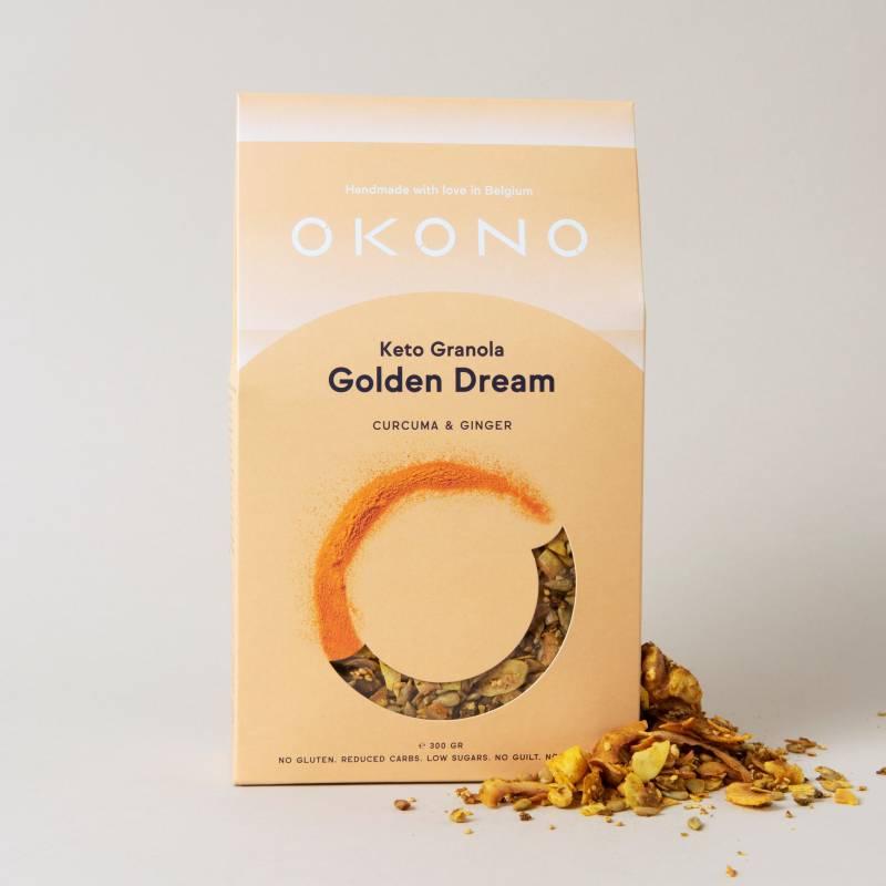 okono keto granola golden dream 300 g deliceslowcarb 1