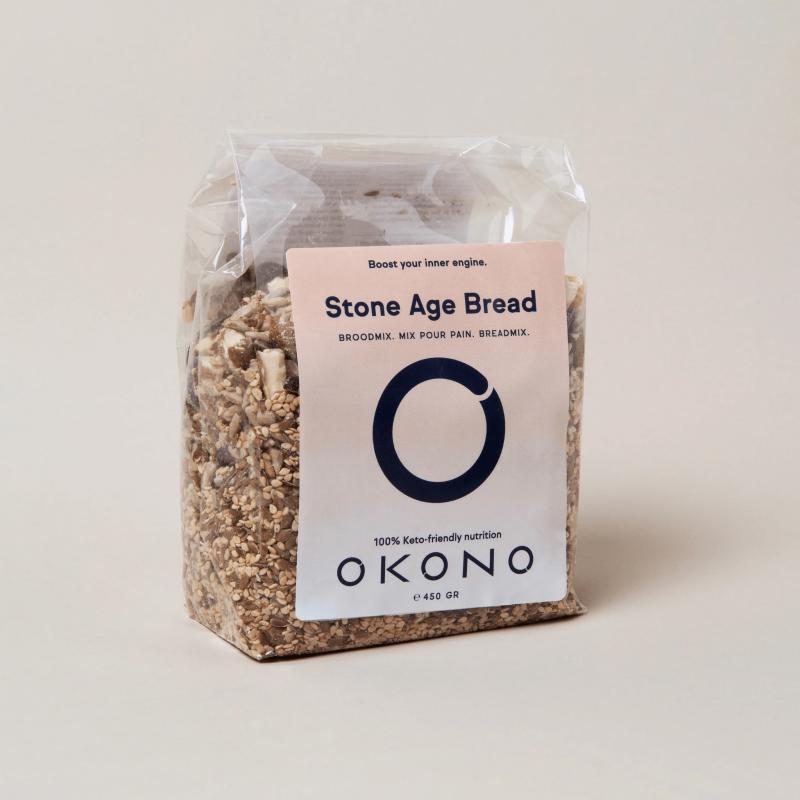 okono stone age bread mix pour pain 450 g deliceslowcarb