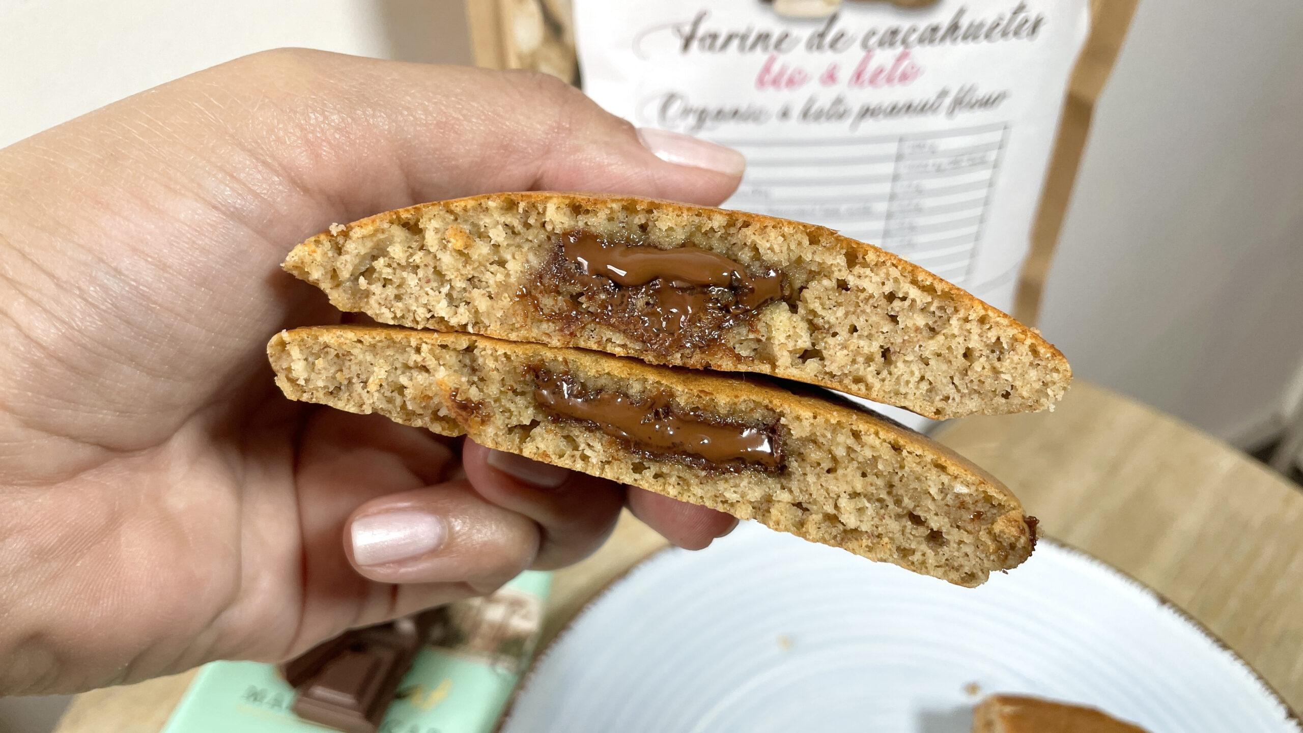 Recette de pancakes keto cœur chocolat